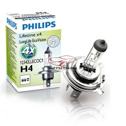 Autožiarovka Philips LongLife EcoVision H4 12V 60/55W - 12342LLECOC1