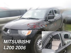 Deflektory - Mitsubishi L-200, Double, Single Cab 2006r.- 2015r.